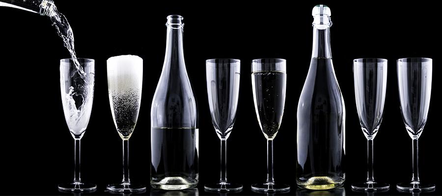 wino musujace a szampan banner